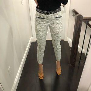 Zara polka dot black and white dress pants
